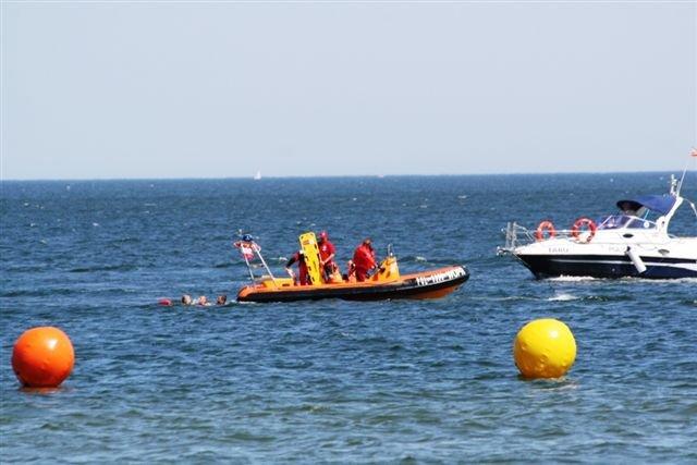 Holowanie Topiącego Się Do łodzi Patrolowej WOPR