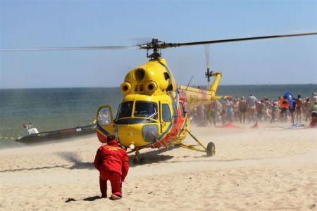 Migłowiec LPR Wylądował Na Plaży